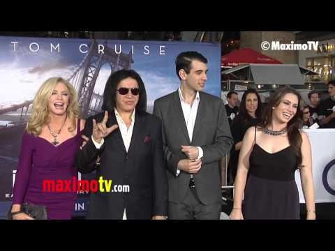 """Gene Simmons, Shannon Tweed, Nick and Sophie Simmons """"Oblivion"""" Premiere in Los Angeles"""
