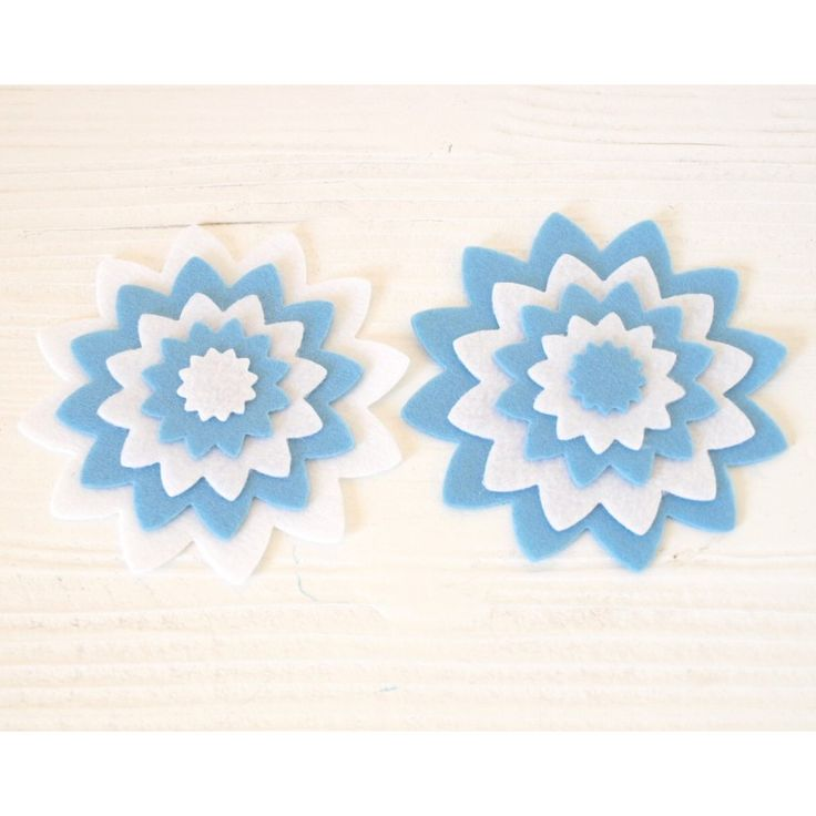 10 fustellati in pannolenci - Dalia Duo/Azzurro