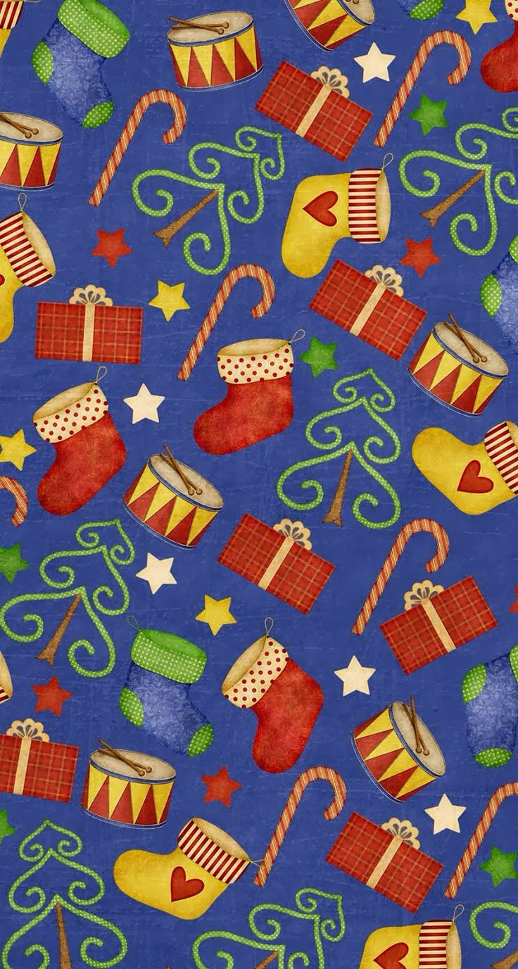 Printable paper backgrounds christmas - Blue Christmas Gifts Pattern Print