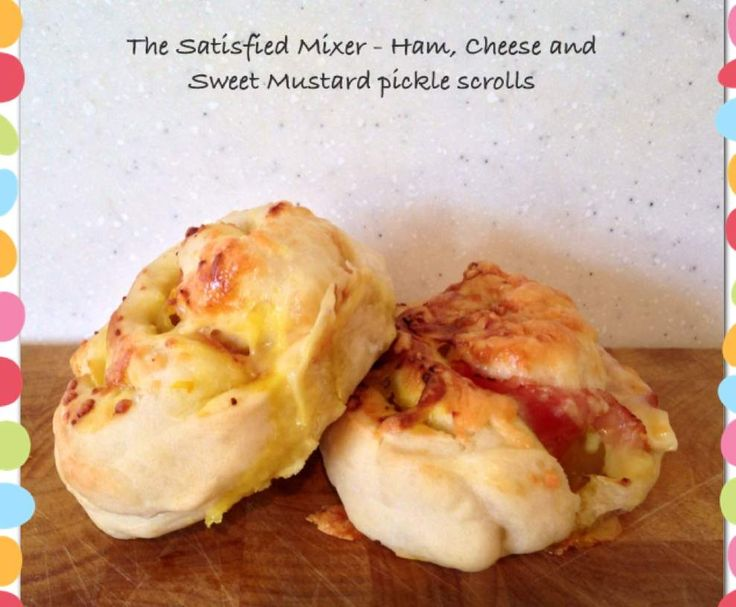 Ham, Cheese and Sweet Mustard Pickle Scrolls by The Satisfied Mixer on www.recipecommunity.com.au