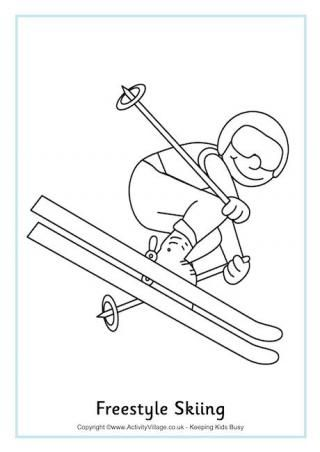 Great Simple Coloring Pages for most winter olympic events.