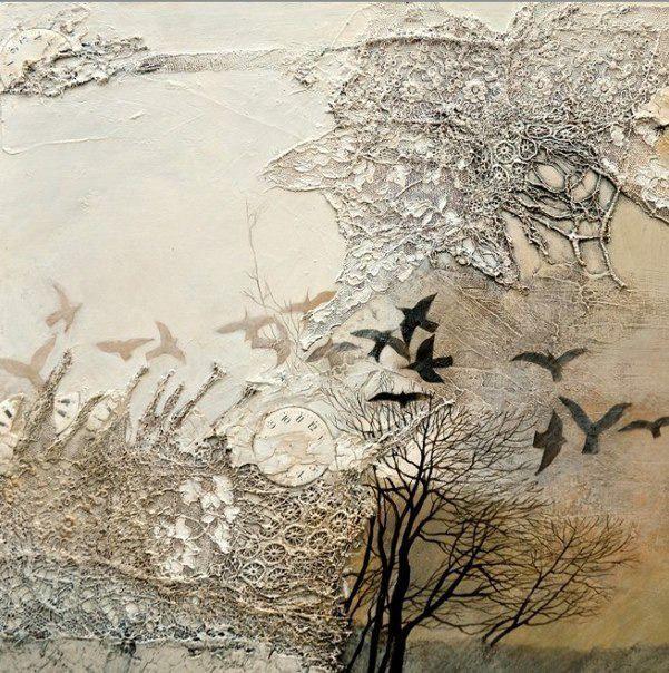 Уникальный художник Elfi Cella: коллажи, текстиль, живопись - Ярмарка Мастеров - ручная работа, handmade