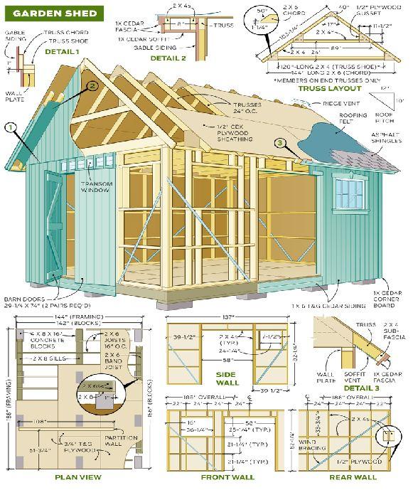 the diy garden shed plan plans design and blueprints
