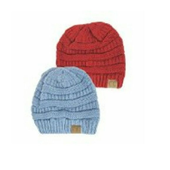 Multi colored CC Beanies New CC tobaggans CC BEANIE TOBAGGANS  Accessories Gloves & Mittens