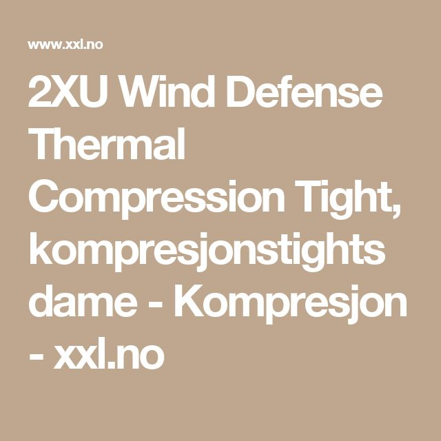2XU Wind Defense Thermal Compression Tight, kompresjonstights dame - Kompresjon - xxl.no