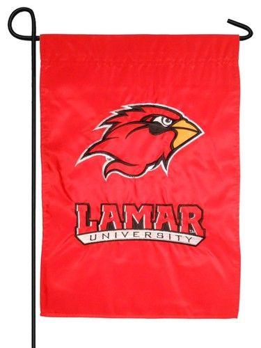 Lamar University Applique Garden Flag