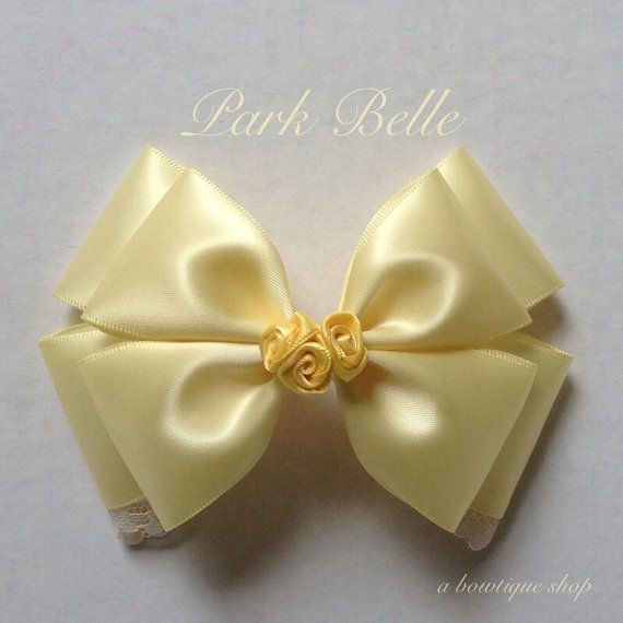 Up for your consideration is a custom made hair bow based on the classic story - Beauty and the Beast. The bow measures 5 inches wide and 3