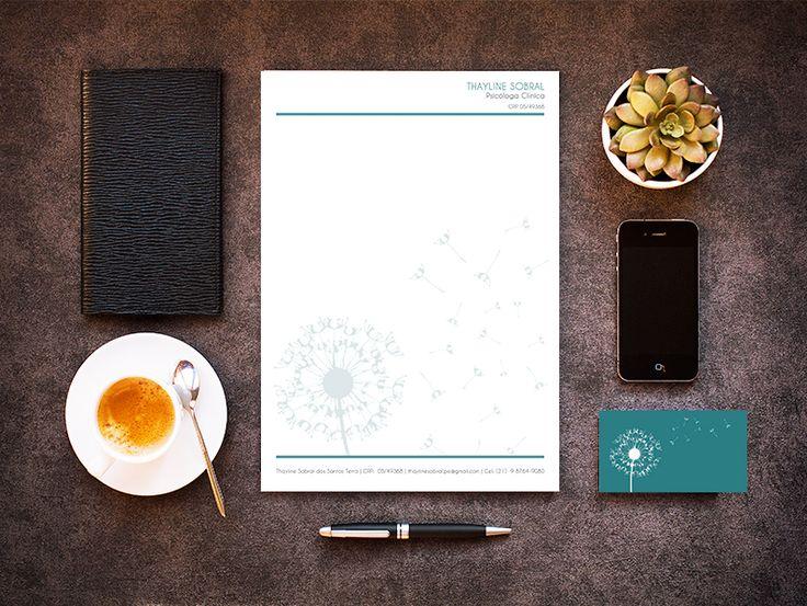 Papelaria (Timbrado e Cartão de Visita) - Psicóloga