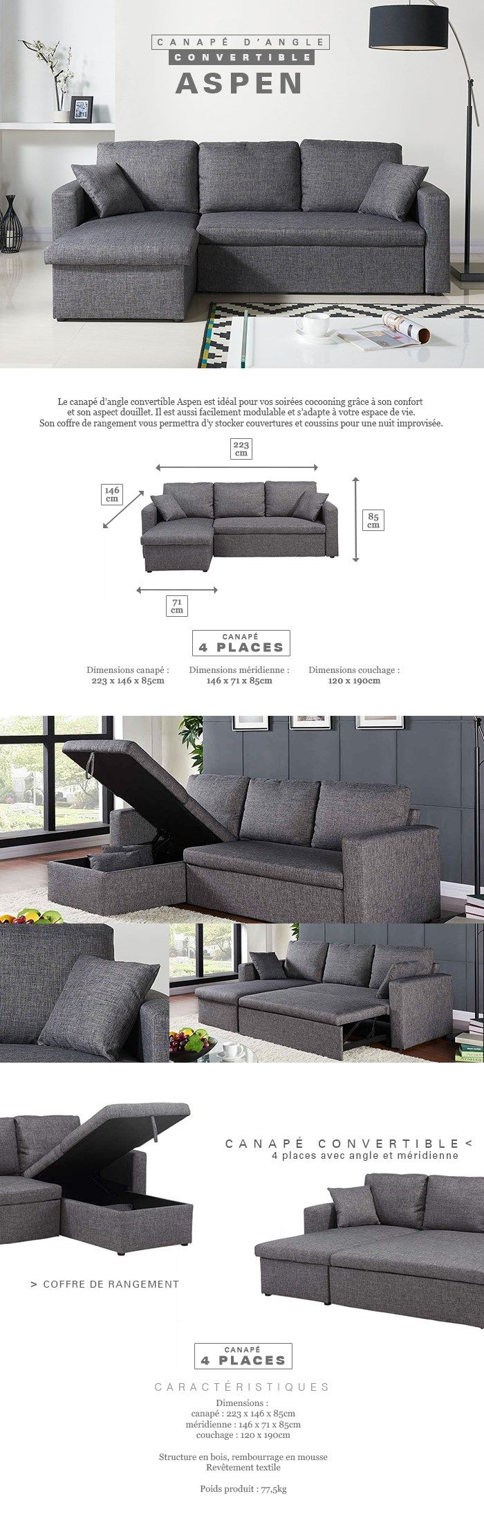 best 25 canape angle gris ideas on pinterest canap d 39 angle blanc canap d angle gris and. Black Bedroom Furniture Sets. Home Design Ideas