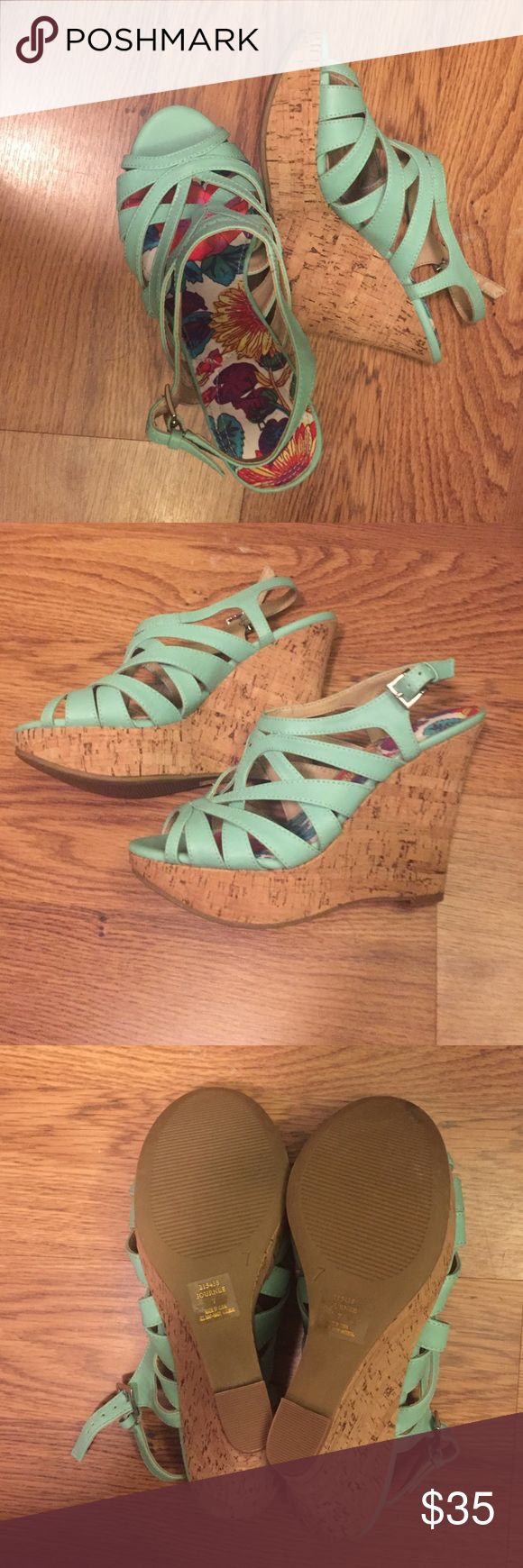 X-Appeal Teal Wedges size 7 Brand new X-Appeal wedges X-Appeal Shoes Wedges