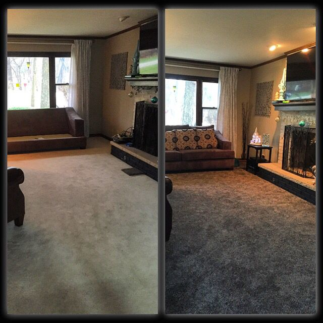 Before- White Carpet After- Dark Flecked, Kid/pet Friendly