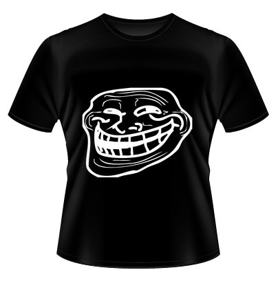 Camiseta dos Memes – Troll Face – Masculina – Preta - http://batecabeca.com.br/camiseta-dos-memes-troll-face-masculina-preta.html