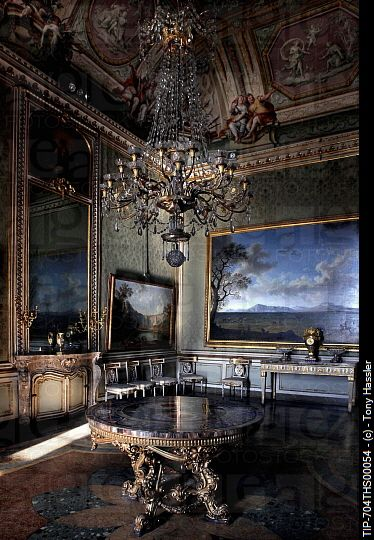 Italy, Campania, Caserta, internal view of the Royal Palace