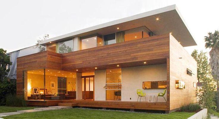 Casa moderna de estructura de madera casas prefabricada for Casas prefabricadas modernas