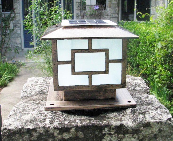 The Brown Extra Large Solar Post Cap Lights ( Solar Pillar