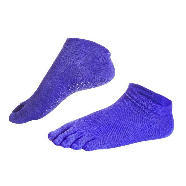 Adorable cotton woman toe socks with non-slip rubber soles yo ga socks,Pilates toe socks for woman free shipping