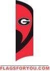 Georgia Bulldogs Tall Team Flag 8.5' x 2.5'