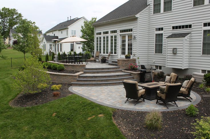 raised-patio-planter-boxes by R & R Landscape Design