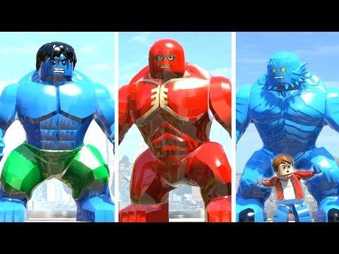 Blue Hulk vs Red Abomination vs A Bomb Transformation LEGO Marvel Super ...