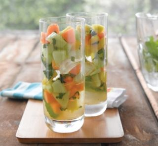 Melon, mint and ginger cooler   Healthy Food Guide