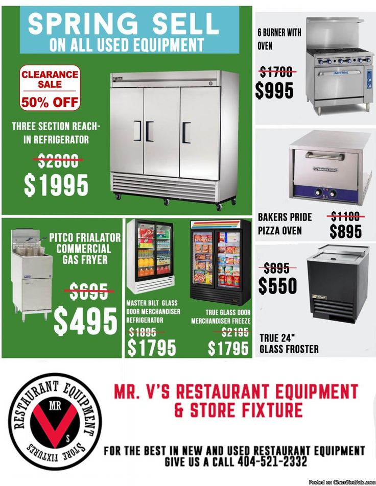 Big Sale On Pitco Commercial Gas Fryer was $695 now only $495for limited time only.  For the best in new and used restaurant equipment give us a call 404-521-2332 or come by to Mr.V's Restaurant Equipment 510 Jones Ave. NW Atlanta,GA 30314.For More Info click linkhttp://tinyurl.com/n57vtp7