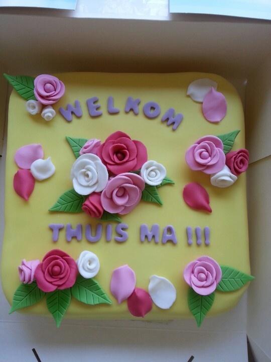 Welkom thuis taart