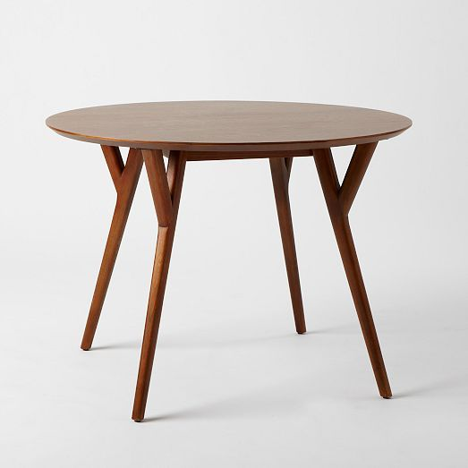 Parker Mid-Century Round Dining Table | west elm This looks almost exactly like our vintage kitchen table from my in laws. It's beautiful.
