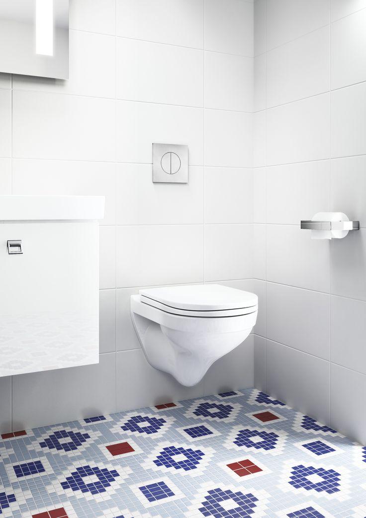 Vägghängd toalett Logic 5693 med hård sits och fasta fästen.