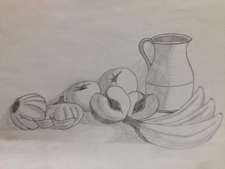 este dibujo se trata del resultado final tras haber escogido los tres bocetos y realizado un esquema compositivo,para darle ese sombreado a los objetos utilice un lápiz blando y una cartulina A3.