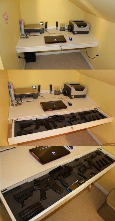 1000 images about furniture on pinterest hidden gun for Hidden home office ideas