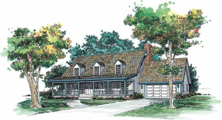 Eplans Farmhouse House Plan - New England Country Charm - 2008 Square Feet and 3 Bedrooms from Eplans - House Plan Code HWEPL00552