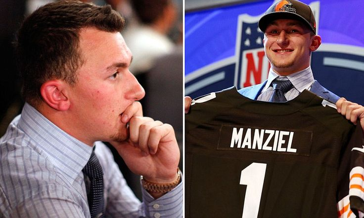 Johnny Manziel goes 22nd in 2014 NFL Draft, while Jadeveon Clowney goes 1st.