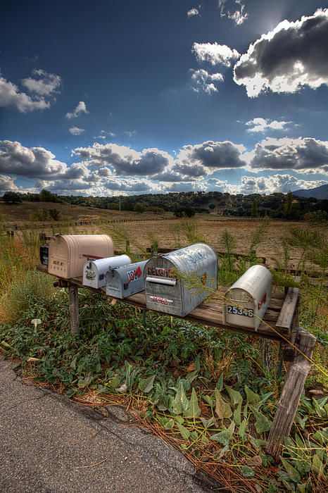 Mailboxes, photo by Peter Tellone