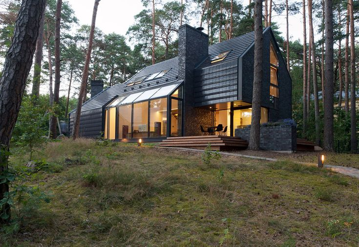 Modern Forest House Dedicated to Blues Music: Black House Blues