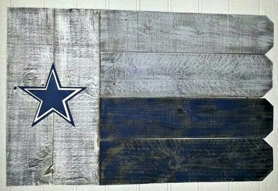 Dallas Cowboys pallet flag