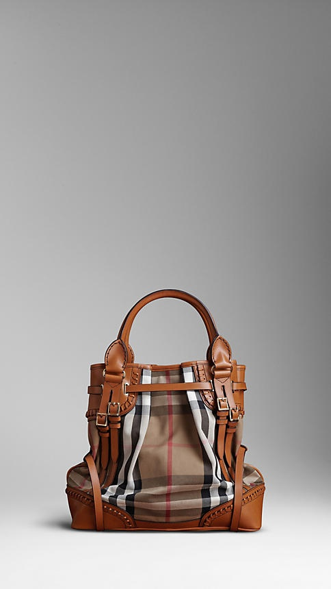 Burberry Whipstitch Bag - Iconic Check