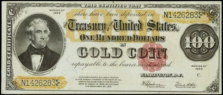 United states dollar and gold standard