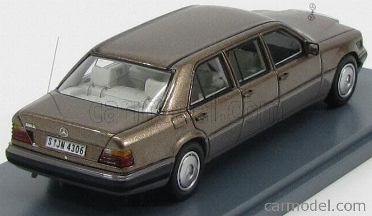 NEO SCALE MODELS NEO44306 Scala 1/43  MERCEDES BENZ E-CLASS V124 LANG LIMOUSINE 1990 BROWN MET GREY