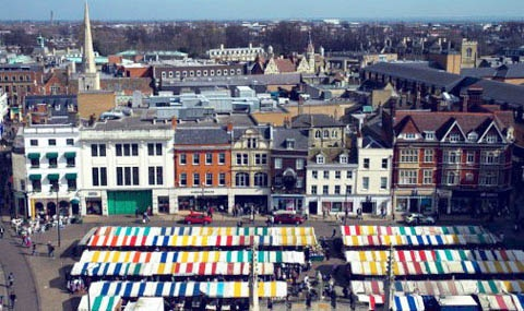 Cambridge Market---love this view from atop the church