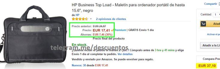 Maletin para portátil HP Business sólo 1741 - http://ift.tt/28Lmfnd