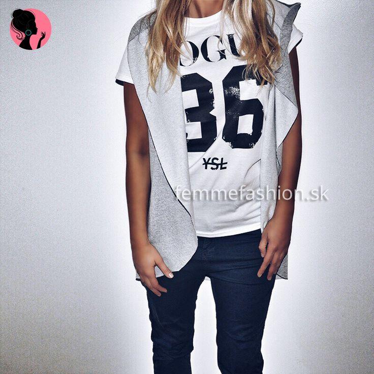 Tričko značky STYLE&DIRT - Vogue 36 YSL http://femmefashion.sk/styledirt/2695-tricko-vogue-36-ysl.html