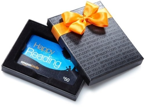 Amazon.com $50 Gift Card with Gift Box (Kindle design) $50.00