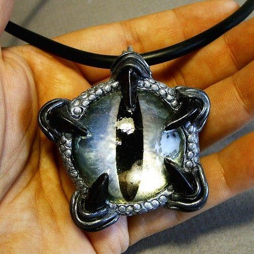 My silver dragon's eye pendant -LOVE IT!