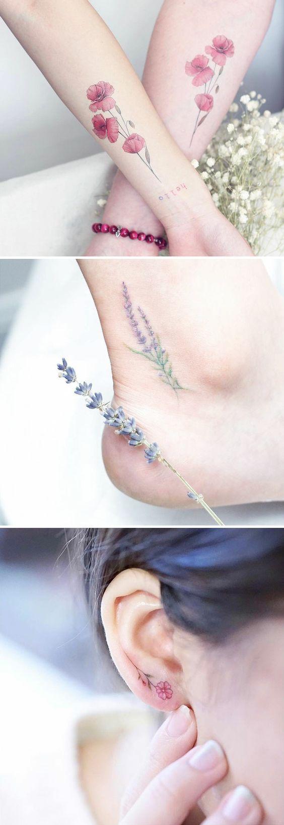 ▷ 1001 + Ideen für wunderschöne Blumentattoos und ihre geheime Bedeutung