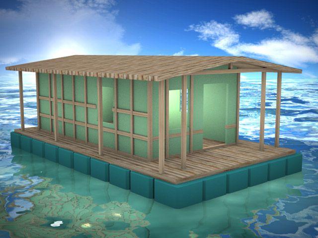 casa galleggiante prefabbricata ideale per l'ormeggio di imbarcazioni