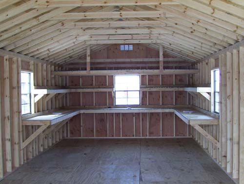 25 best ideas about shed shelving on pinterest building for Garage roofing options