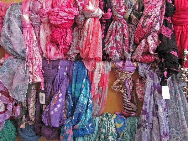 A selection of scarves from the Makers Workshop in Burnie, north west coast.