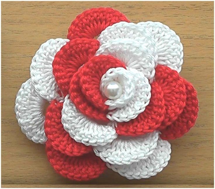 Multicolored Rose Crochet Tutorial – Craft Addicts