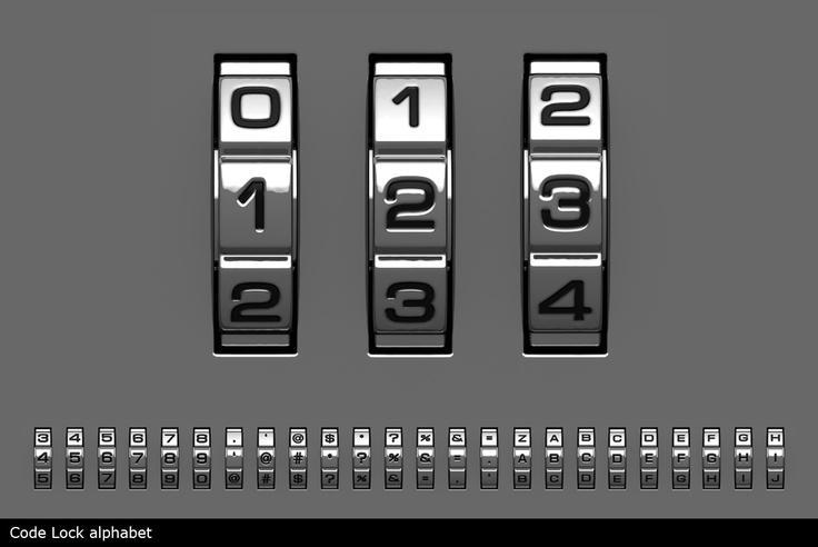 code lock alphabet