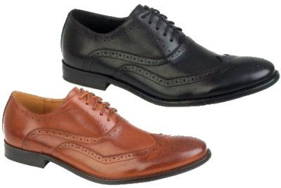 MENS ITALIAN DESIGNED BROGUES FORMAL SMART LACE UPS FAUX LEATHER GENTS SHOES SIZE 7-12: Amazon.co.uk: Shoes & Bags